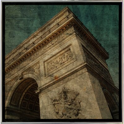 'Triomphe II' Graphic Art Print Format: Silver Metal Framed Paper, Size: 6