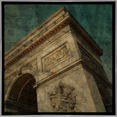 'Triomphe II' Graphic Art Print Format: White Metal Framed Paper, Size: 6