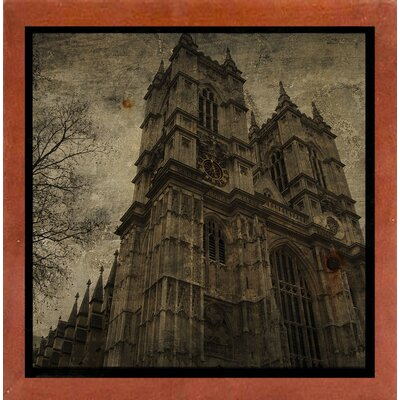 'West Minster Abbey' Graphic Art Print Format: Affordable Canadian Walnut Medium Framed Paper, Size: 6
