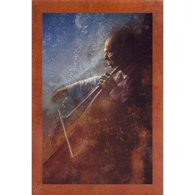 'The Cello Player' Framed Graphic Art Print Format: Canadian Walnut Medium Framed