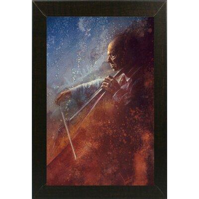 'The Cello Player' Framed Graphic Art Print Format: Brazilian Walnut Medium Framed