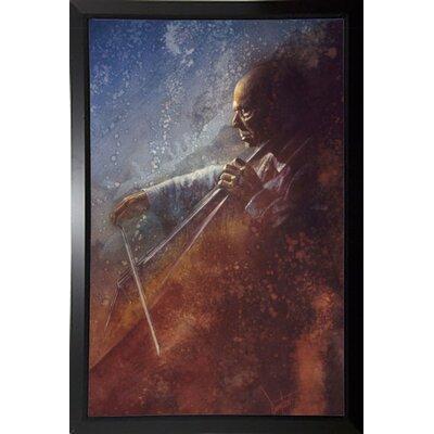 'The Cello Player' Framed Graphic Art Print Format: Plastic Black Framed