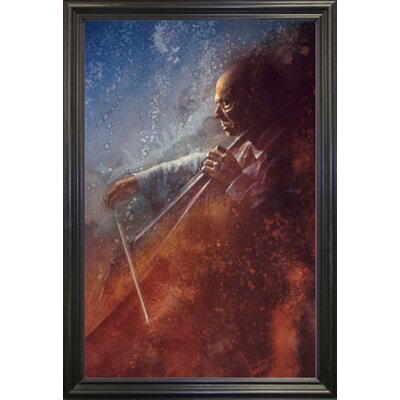 'The Cello Player' Framed Graphic Art Print Format: Black Grande Framed