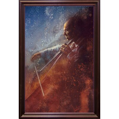 'The Cello Player' Framed Graphic Art Print Format: Cherry Grande Framed