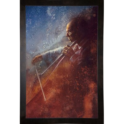 'The Cello Player' Framed Graphic Art Print Format: Cafe Espresso Framed