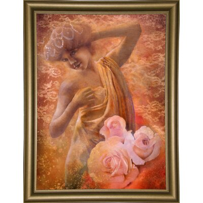 'Pearl' Graphic Art Print Format: Bistro Gold Framed