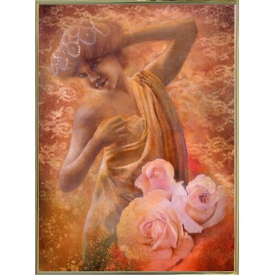 'Pearl' Graphic Art Print Format: Gold Metal Framed Paper