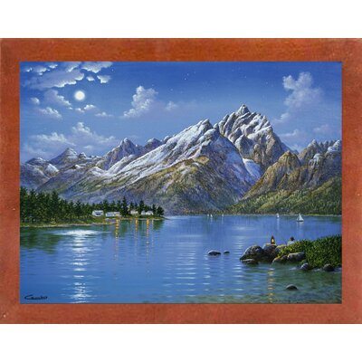 'Grand Tetons' Graphic Art Print Format: Affordable Canadian Walnut Medium Framed Paper, Size: 30.75