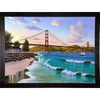 'Golden Gate 1940' Graphic Art Print Format: Cafe Espresso Framed Paper, Size: 31