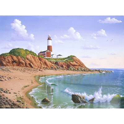 'Montauk Point, NY' Graphic Art Print Format: Paper, Size: 23.25