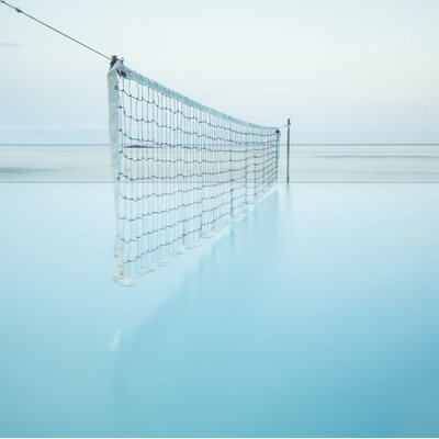 'Net at Pool' Photographic Print Format: Canvas