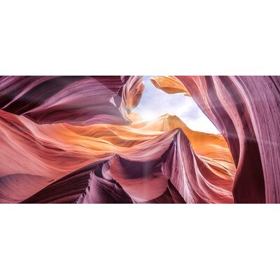 'Antelope Canyon 2 ' Graphic Art Print Format: Canvas Black Floater Frame, Size: 28.3
