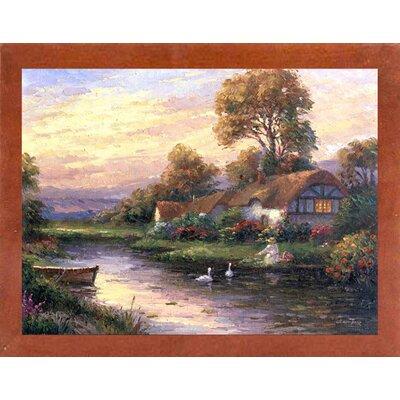 'Lakeside Cottage' Print Format: Canadian Walnut Wood Medium Framed Paper