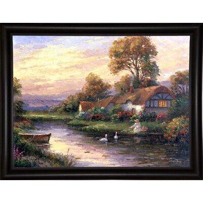 'Lakeside Cottage' Print Format: Bistro Expresso Framed Paper