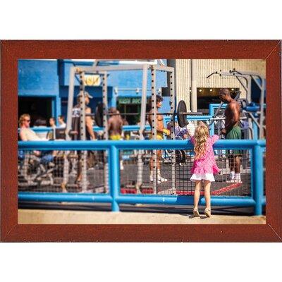 'Curiosity, Muscle Beach' Photographic Print Format: Red Mahogany Wood Medium Framed Paper EBDG2532 42858504