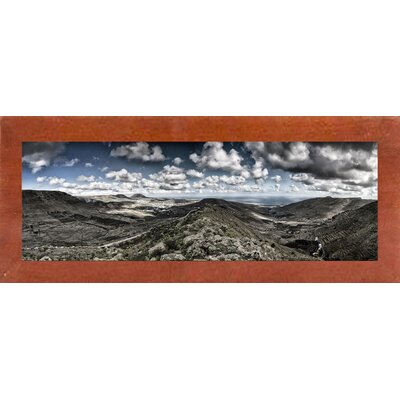 'Panorama Lanzarote' Photographic Print Format: Canadian Walnut Wood Medium Framed Paper