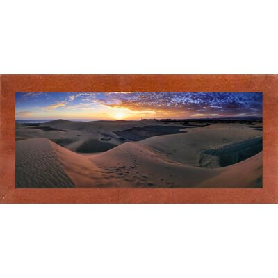 'Panorama Maspalomas Dunes' Photographic Print Format: Canadian Walnut Wood Medium Framed Paper