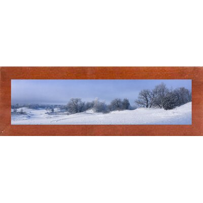 'Panorama Winter Dunes' Photographic Print Format: Canadian Walnut Wood Medium Framed Paper
