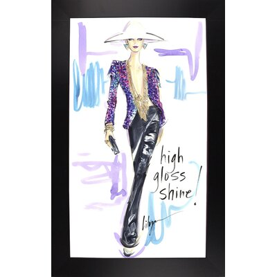 'High Gloss Shine' Print Format: Black Wood Large Framed Paper ESUM1358 43184524