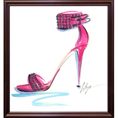 'Hot to Trot' Print Format: Cherry Wood Grande Framed Paper