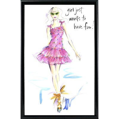 'Girl Just Wants to Have Fun' Print ESUM1352 43184392