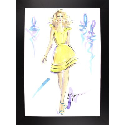 'Lemon Meringue High' Print Format: Black Wood Large Framed Paper ESUM1283 43182708
