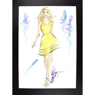'Lemon Meringue High' Print Format: Black Wood Large Framed Paper ESUM1283 43182708