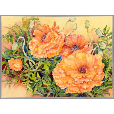 'Double Poppies' Print Format: White Metal Framed