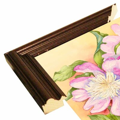 'Spring Peony' Print Format: Cherry Wood Grande Framed Paper