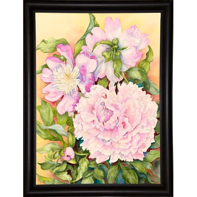 'Spring Peony' Print Format: Bistro Expresso Framed Paper