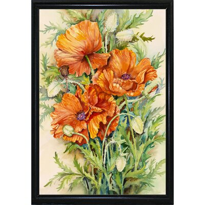 'Cluster of Poppies' Graphic Art Print Format: Flat Back Metal Framed