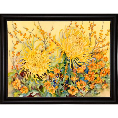 'Fall Chrysanthemums' Graphic Art Print Format: Bistro Expresso Framed Paper