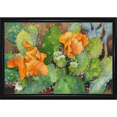 'Blossoming Cactus' Graphic Art Print Format: Flat Back Metal Framed
