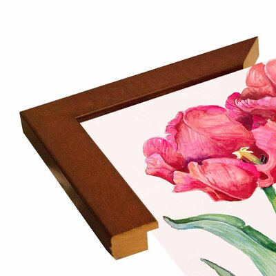 'Cherry Red Tulip' Print Format: Bistro Expresso Framed Paper
