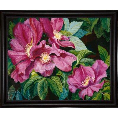'Wild Red Roses' Print Format: Bistro Expresso Framed Paper