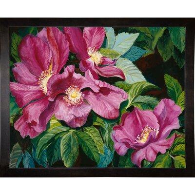 'Wild Red Roses' Print Format: Cafe Espresso Wood Framed Paper