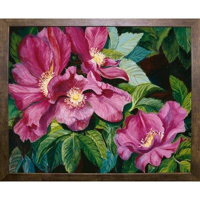 'Wild Red Roses' Print Format: Cafe Mocha Framed Paper