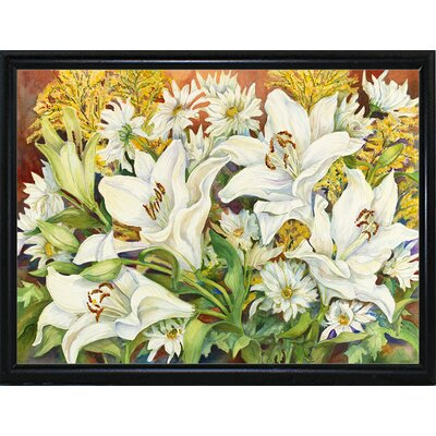 'Lilies and Daisies' Print Format: Flat Back Metal Framed