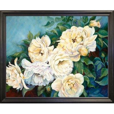 'Golden Roses' Print Format: Black Wood Grande Framed Paper