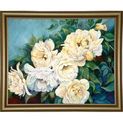 'Golden Roses' Print Format: Bistro Gold Framed Paper