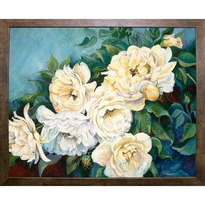 'Golden Roses' Print Format: Cafe Mocha Framed Paper