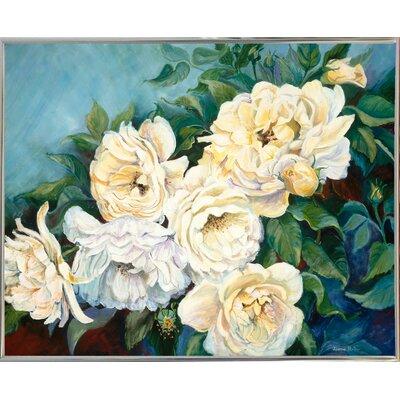 'Golden Roses' Print Format: Silver Metal Framed