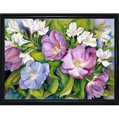 'Purple Tulips/ White Alstroneria' Print Format: Flat Back Metal Framed