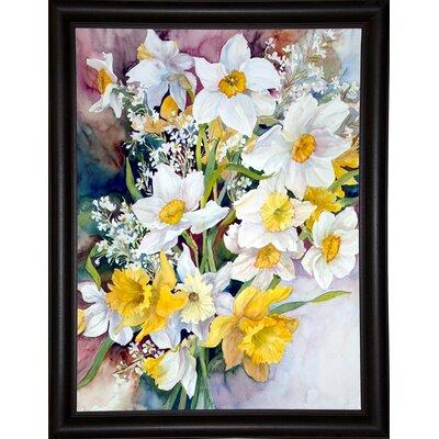 'Spring Daffodils' Print Format: Bistro Expresso Framed Paper