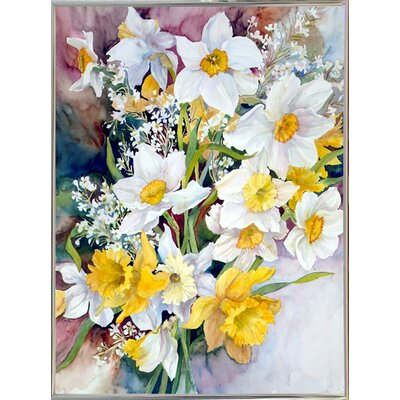 'Spring Daffodils' Print Format: Silver Metal Framed Paper
