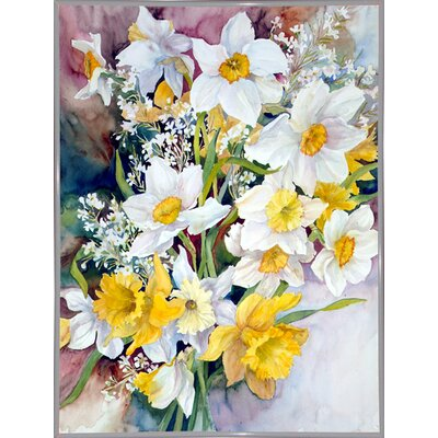 'Spring Daffodils' Print Format: White Metal Framed Paper