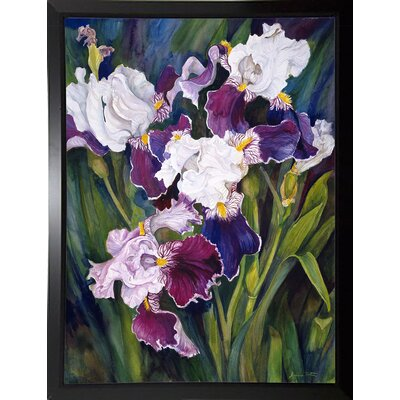 'Wind Blown Iris' Print Format: Black Plastic Framed Paper