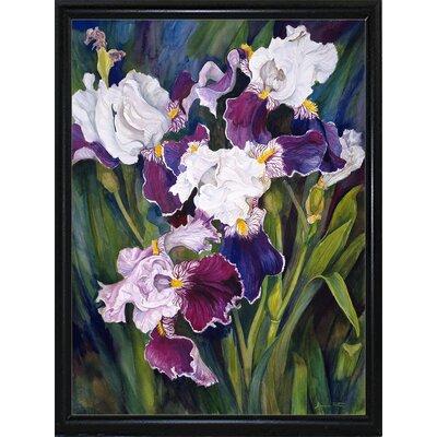 'Wind Blown Iris' Print Format: Flat Back Metal Framed
