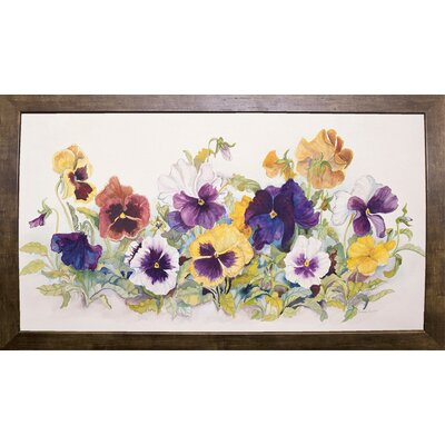 'Pansies' Faces' Print Format: Cafe Mocha Framed Paper