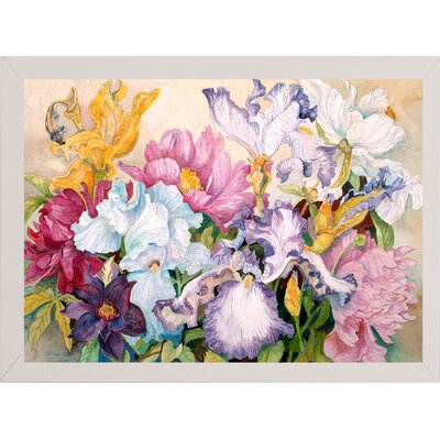 'Spring's Rainbow' Print Format: White Wood Medium Framed Paper